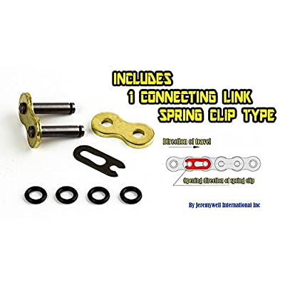 Unibear O-Ring 530 130 Links Motorcycle Chain,Gold, with 1 Connecting Link, Japan Technology: Industrial & Scientific