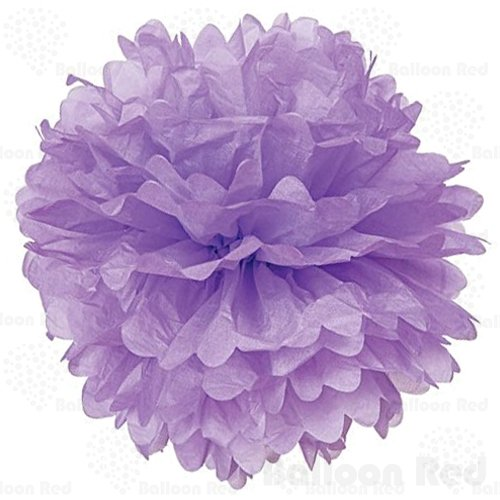 [18 Inch Tissue Paper Flower Pom Poms, Pack of 5, Lavender] (Homemade Kids Halloween Costumes Unique)