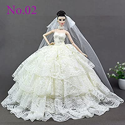 softgege Doll Clothes / Wedding Dress Skirt Suit 26-30 cm / Wedding Dress Outfit Doll Dollfie for Barbie Doll Kurhn Doll: Toys & Games