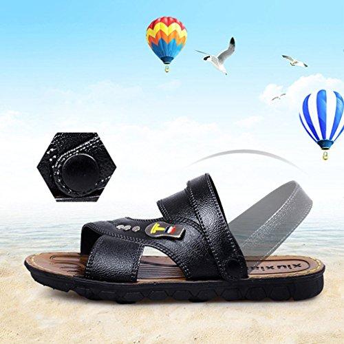 Nero Dimensione Sandali Sandali Traspiranti Antiscivolo Mxssi Uomo La Estivi Semplici Rossiccio All'Aperto Uomo Marrone Pantofole Spiaggia qZ8xxRBw