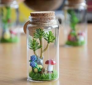 Mi Vecino Totoro Musgos Micro Paisaje La Deriva Botellas Vidrio Regalo De San Valentin Casa Creativo Decoracion Ornamento 10CM*5CM 1# - Come On, Baby
