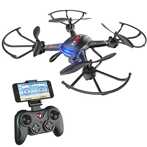 Holy Stone F181W Wifi FPV Drone with 720P Wide-Angle HD Camera Live Video RC Quadcopter with Altitude Hold, Gravity Sensor Function, RTF and Easy to Fly for Beginner, Compatible with VR (Camera Angle)