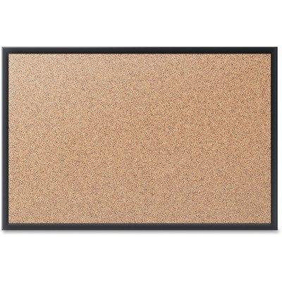4' Cork Boards - Quartet Cork Bulletin Board, 4 x 3 Feet, Black Frame (2304B)