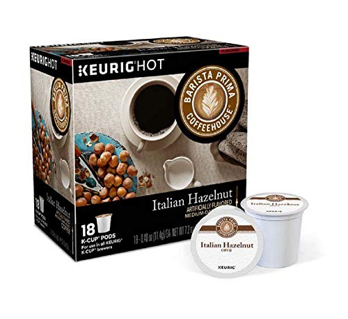 Keurig Coffee Pods K-Cups 16/18 / 22/24 Count Capsules ALL BRANDS/FLAVORS (18 Pods Barista Prima - Italian - Milk Vanilla Italian