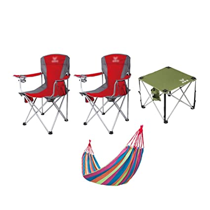 Paquete de 2 sillas Plegables para Acampar, con Mesa y ...