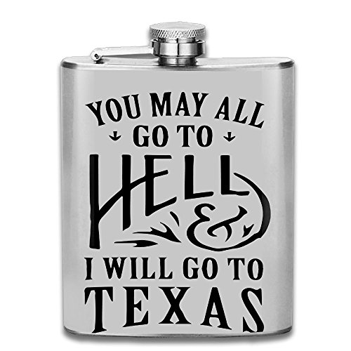 SmallHan You May All Go To Hell And I Will Go To Texas Gift For Men 304 Stainless Steel Flask 7oz