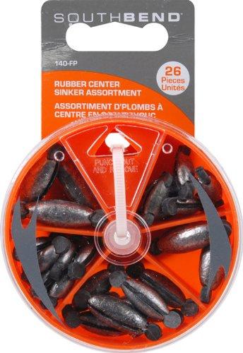 (SouthBend Rubber Center 140-FP Sinker Assortment 26 Pieces per Box)