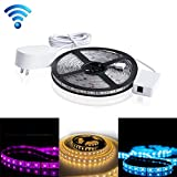 mingjin Smart WiFi LED Rope Light Outdoor Tape Rope With Power Plug 5050-60D Color Changing RGB LED Strip Light With APP 5M DIY For Party Room,Work With Alexa & Google,Android, IOS