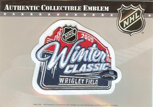 2009 NHL Winter Classic Patch - Detroit Red Wings vs Chicago Blackhawks - Official NHL Licensed by National Emblem