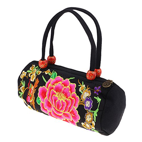 Ethnic Non Sharplace brand Woman Retro Handmade Bag 2 Portable Style Tote Phone Canvas ORFRqZ