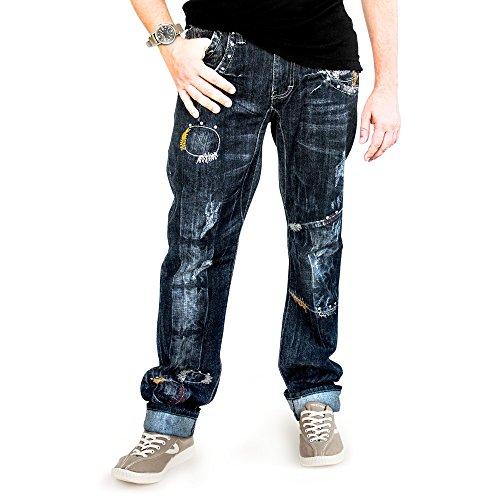 Big Storm Men's Jeans European Italian Style Straight Casual Size 28-38 (30) (Jeans Trendy)