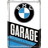 Nostalgic-Art 10291 BMW Garage Metal Tin Sign, 10 x 14 x 0.2 cm