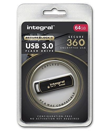 Integral 64GB Secure 360 Encrypted USB3.0 Flash Drive