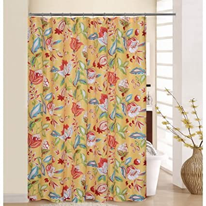 WAVERLY Modern Poetic Sunshine Shower Curtain With Rings