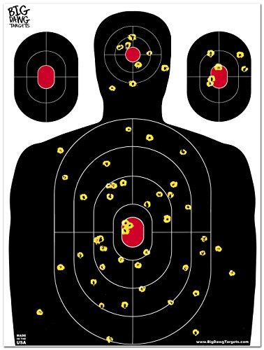 Big Dawg Targets - 18 X 24 Inch Silhouette Reactive Splatter Shooting Target - 25 Pack