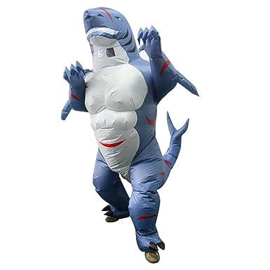 Amazon.com: HHARTS Disfraz de tiburón hinchable para adulto ...