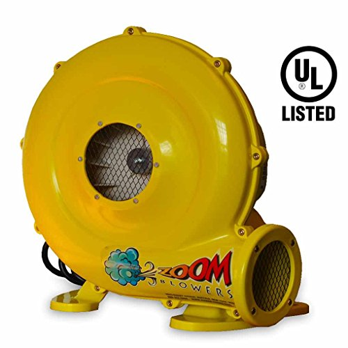 450-Watt, 0.5 HP Compact and Energy Efficient Zoom Commercial Air Blower for Small Inflatables and Bounce Houses