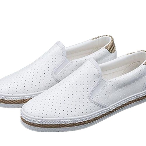 SHFANG Señora Zapatos Simple Placa Zapatos Cuero Red Ocio Movimiento Cómodo Estudiantes Diario Negro Blanco White