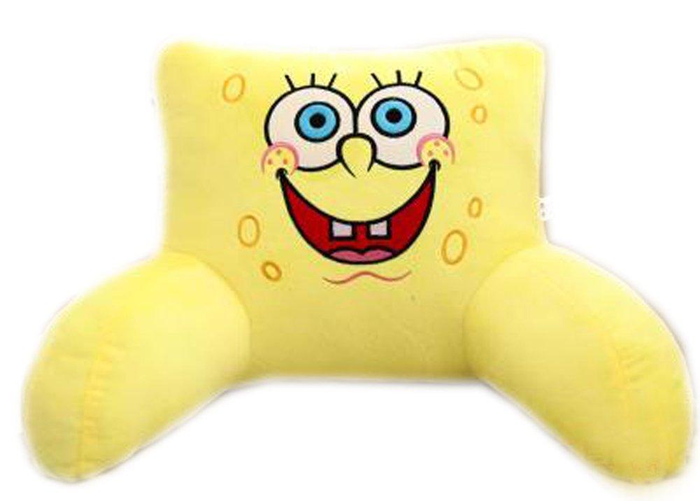 E.a@Market Children's Plush Back Cushion Lumbar Pillow Cartoon Pattern (Yellow Spongebob) by E.a@market Reading Pillows