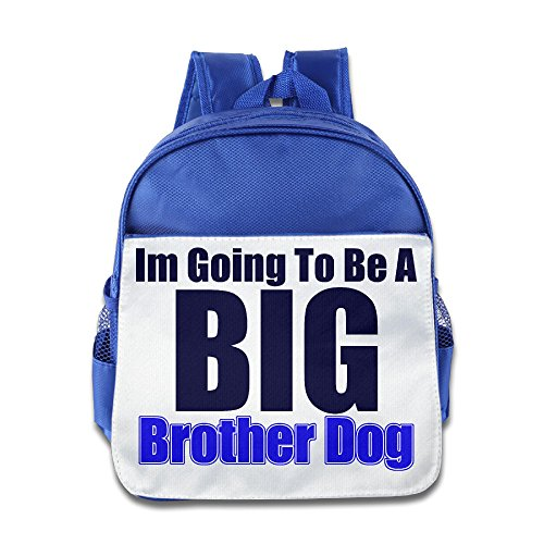 Ysov I'm Going To Be A Big Brother Dog Child Preshool Backpack RoyalBlue