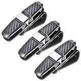 double sun visor - Petutu Double Sunglass Visor Clip Holder Cars 3 Pack (Black)