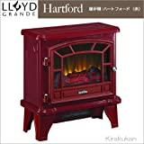 電気式暖炉メープルフレーム 【ハートフォード(1000W レッド)】 電気暖炉