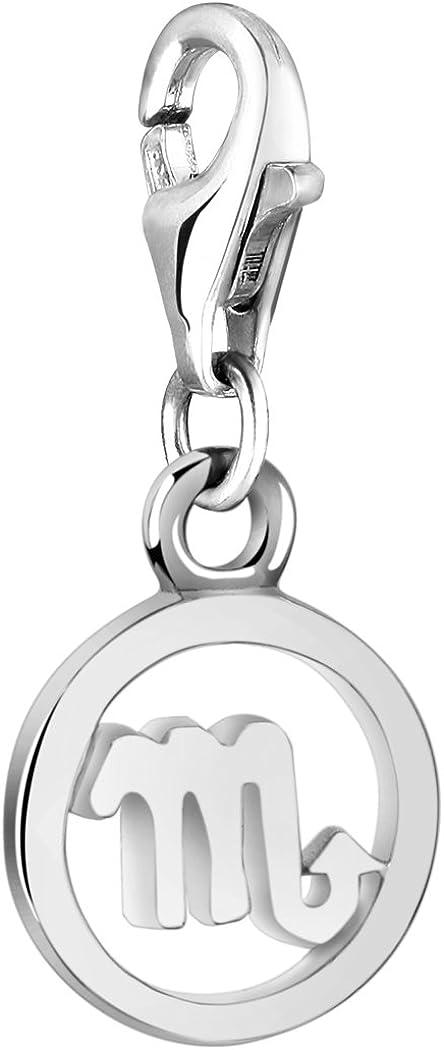 argent sterling 925 pour tous les bracelets /à breloques 713300-000 Nenalina Charm Pendentif Zodiac Scorpion