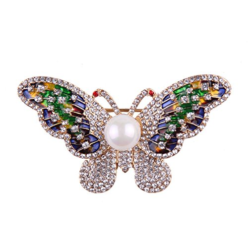 Teniu Animal Brooch for Women Men Rhinestone Crystal Brooch Diamond Brooch Pins Silver/Gold Plated