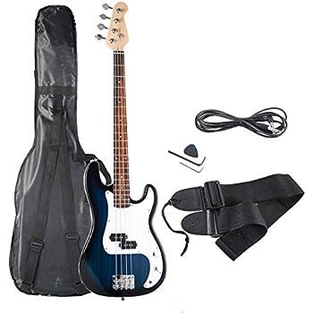 crescent electric bass guitar starter kit bluburst color includes crescenttm. Black Bedroom Furniture Sets. Home Design Ideas