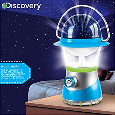 DISCOVERY KIDS 2-in-1 4X LED Starlight Lantern and Star Projector, Indoor Use, 2 Modes: Lantern and Projector, Easy to Use for Children, Battery Operated, Perfect Gift for Camping - BLUE/WHITE/GREEN: Toys & Games