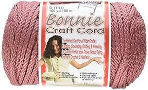 Pepperell Bonnie Macrame Craft Cord, 6mm 100-Yard, Rose