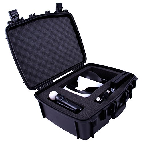 Casematix ELITE Playstation VR Case Bag For Launch Bundle – Military Grade Design Protects PS4 VR Headset , Camera , Move Controllers , Cables , Games , Processor and Accessories
