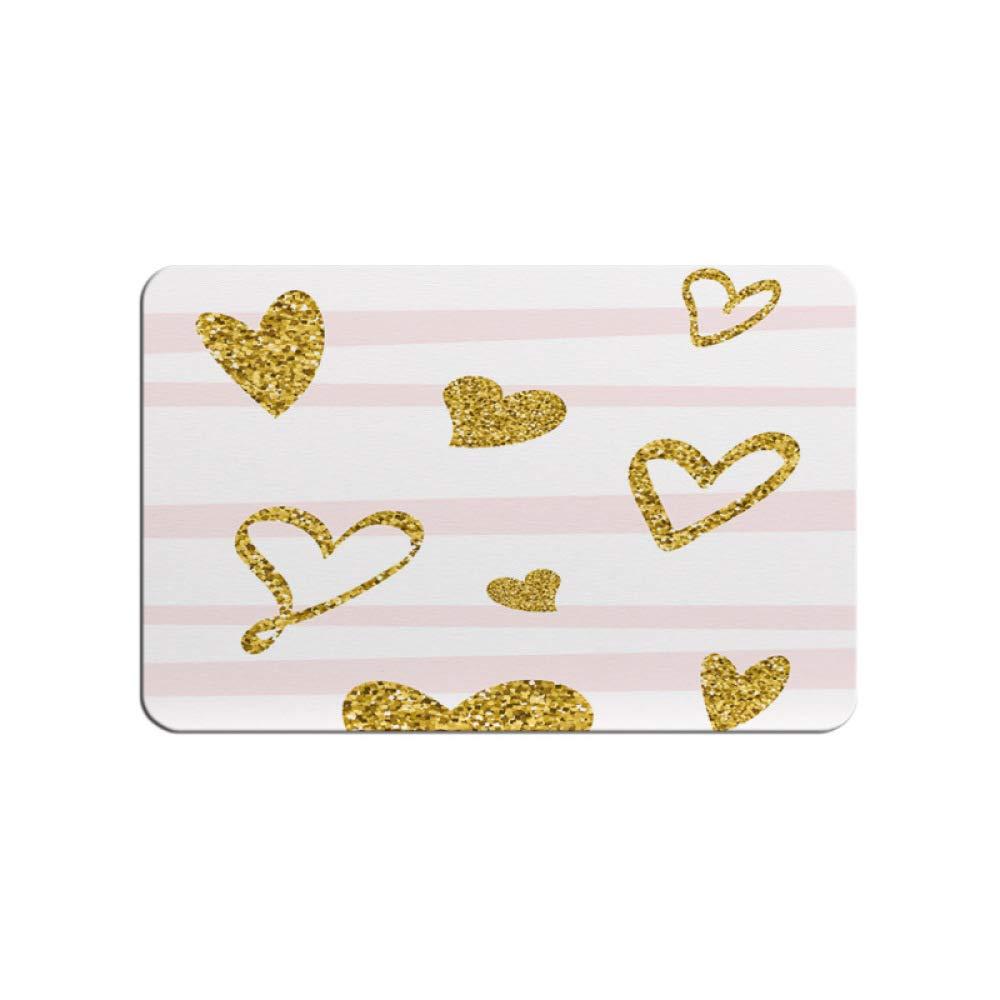 PLLP Black Gold Diatom Mud Mat, Bathroom Water-Absorbing Quick-Drying Mat Bathroom Diatom Soil Mat, Anti-Slip Mat,B,3960cm