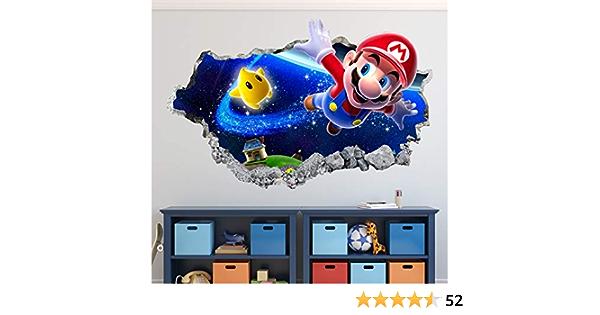Magic Super Mario Kart Window Wall Art Self Adhesive Sticker Decal Print Poster