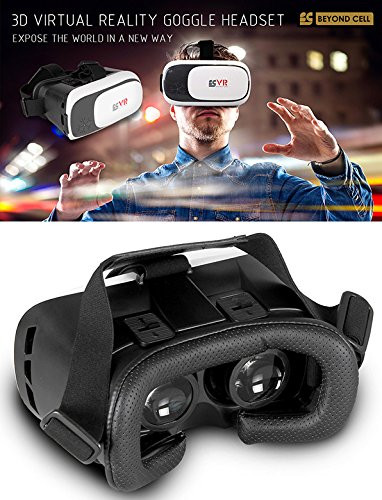 BEYOND CELL 3D VIRTUAL REALITY HEADSET GLASSES FOR iPHONE 6 6S PLUS ANDROID GALAXY S5 S6 S7 EDGE - On Virtual Glasses Try Free