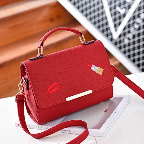 8 Bolsa Red versátil Cuadrado de Hombro 17 de de Colores Bolso portátil Color la la la 24 cm Bolsa 9 de pequeño Simple Mensajero Mujer Bolso Manera ZDD de fw6q11