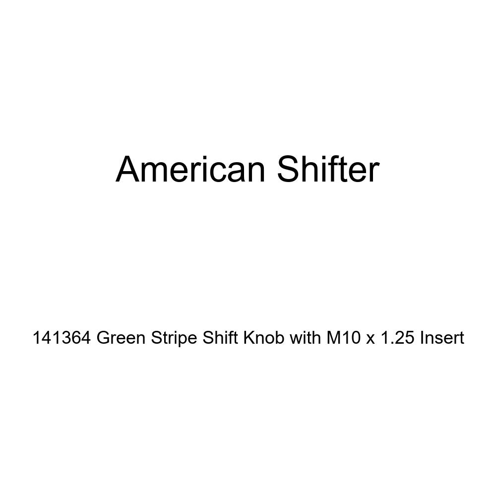 American Shifter 141364 Green Stripe Shift Knob with M10 x 1.25 Insert