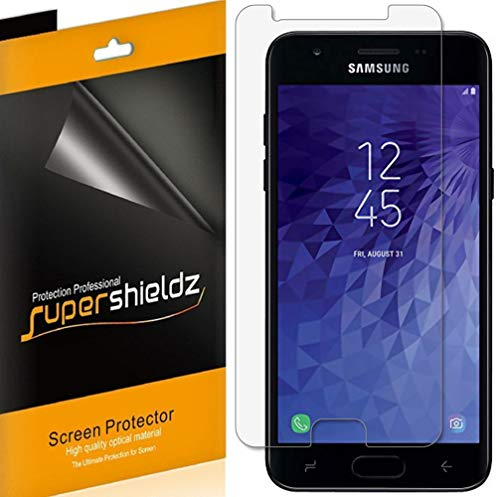 (6 Pack) Supershieldz for Samsung Galaxy J3 V J3V (3rd Gen) and J3 (3rd Generation) (Verizon) Screen Protector, High Definition Clear Shield (PET)
