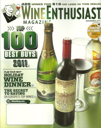 Wine Enthusiast Magazine November 2011 Bartend on a Budget Top 100 Best - In Shopping Kona Hawaii