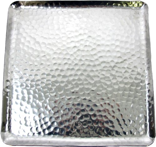 Hammered Aluminum Serving Tray (Hammered Aluminum Square Tray)