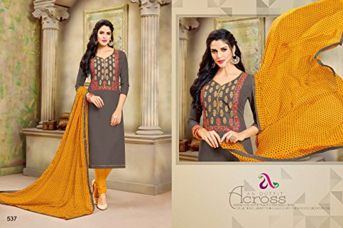 DAIRY Milk VOL-20 16 Pcs Chanderi Cotton Fine Embroidery Salwar Kameez by PANCHAL Creation -03 by DAIRY Milk VOL-20 (Image #7)