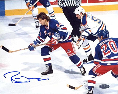 Ron Duguay Autographed /Original Signed 8x10 Color Action-photo Showing Him w/ the New York Rangers