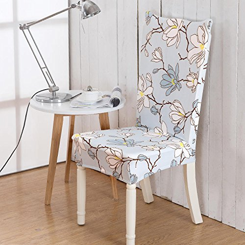 Chairwoman Rear Underwrite - 918 Elegant Flower Elastic Stretch Chair Seat Cover Computer Dining Home Wedding Decor - Spread Fundament Hatch Moderate Buttock Shroud Electric - 1PCs