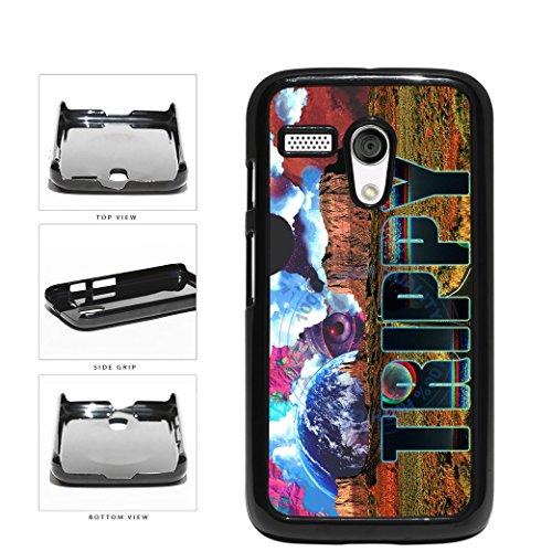 BleuReign(TM) Retro Trippy Acid Illusion Plastic Phone Case Back Cover For Motorola Moto G (Motorola Moto G Case Rasta)