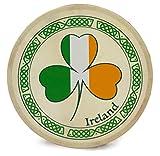 Waltons 8 Inch Tricolour Shamrock Bodhrán - Handcrafted Irish Instrument - Crisp & Musical Tone - Hardwood Beater Included w/Purchase