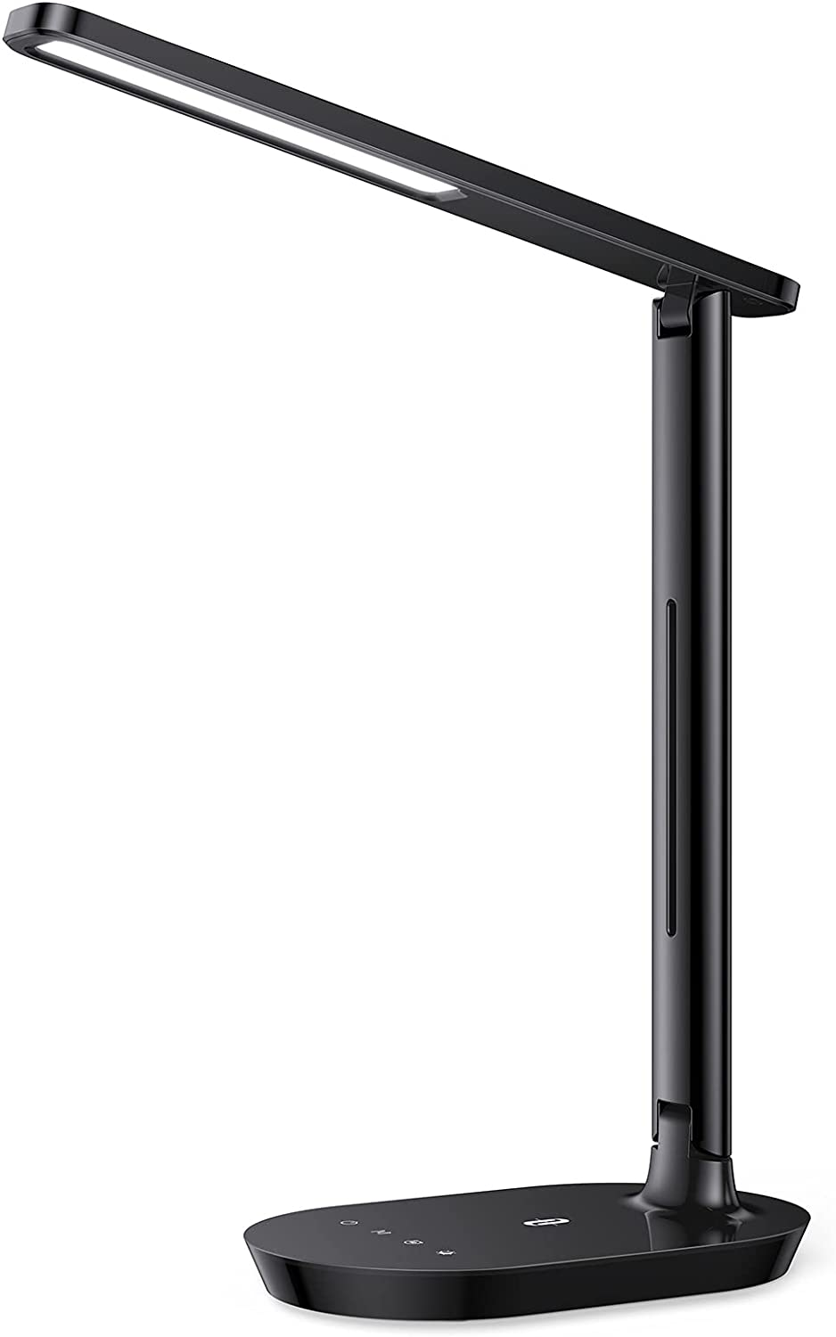 TaoTronics LED Desk Lamp, Dimmable Desk Lamp with 5 Lighting Levels 3 Color Modes Eye-Caring Table Lamp, Touch Control Memory Function for Living Room Office Bedroom, Black