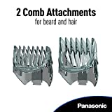 Panasonic Hair and Beard Trimmer, Mens, with 39 Adjustable Trim Settings and Two Comb Attachments for Beard and Hair, Corded or Cordless Operation, ER-GB60-K