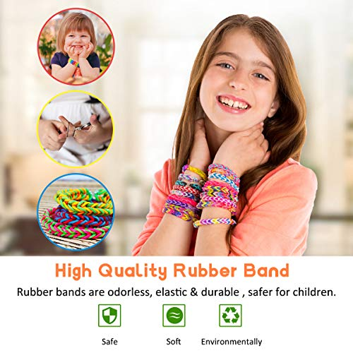 Yehtta Gifts for 8-10 Year Old Girls Rubber Bands Loom Kit Kids Art Crafts DIY Toys Bracelet Making Kit Personalized…