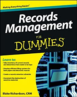 Amazon records management advanced office systems procedures records management for dummies fandeluxe Images