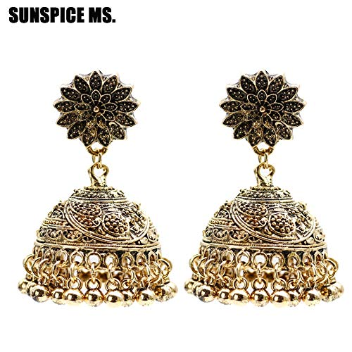 ORCHILD accessories Ms Ethnic Indian Birdcage Earring Women Antique Gold Silver Color Egypt Drop Earring Retro Vintage Boho Ancient Jewelry ()